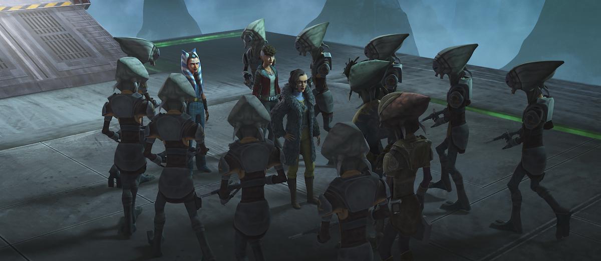 Ahsoka and the Martez sisters encounter the Pyke Syndicate.
