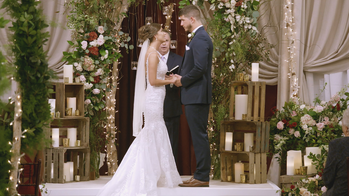 Amber Pike and Matt Barnett on their wedding day in the finale of 'Love Is Blind.'