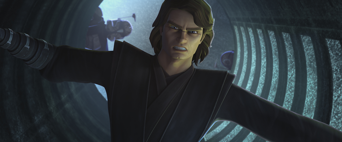 Anakin during the mission in Episode 3 of 'The Clone Wars,' Season 7.