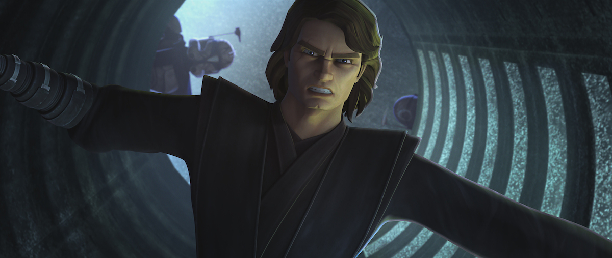 Anakin during his mission with the Bad Batch in Season 7 of 'The Clone Wars.'