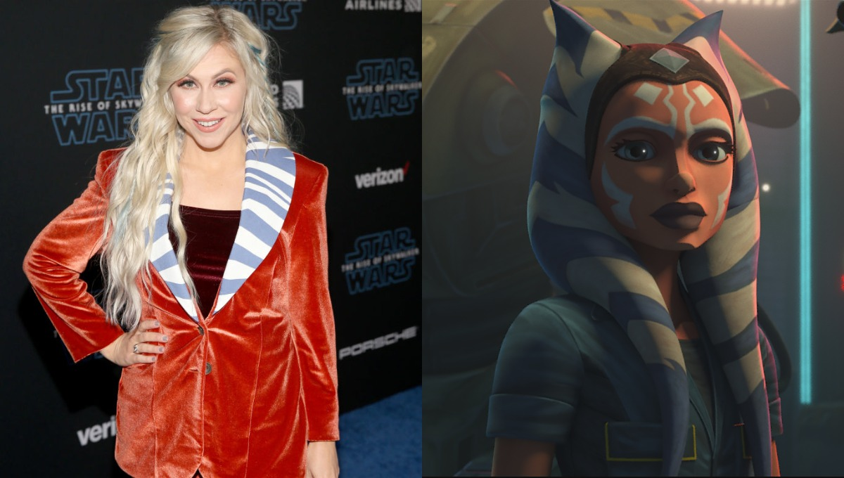 Joint image: Ashley Eckstein at the World Premiere of 'Star Wars: The Rise of Skywalker' on Dec. 16, 2019/Ahsoka in Episode 5 of 'The Clone Wars.'
