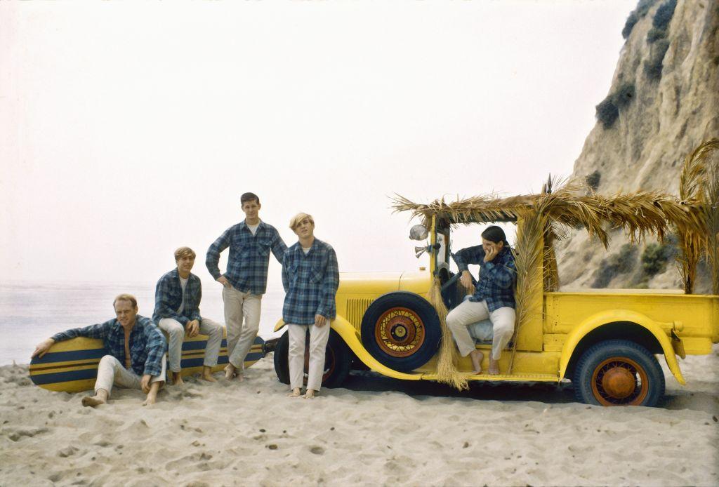Beach Boys yellow car