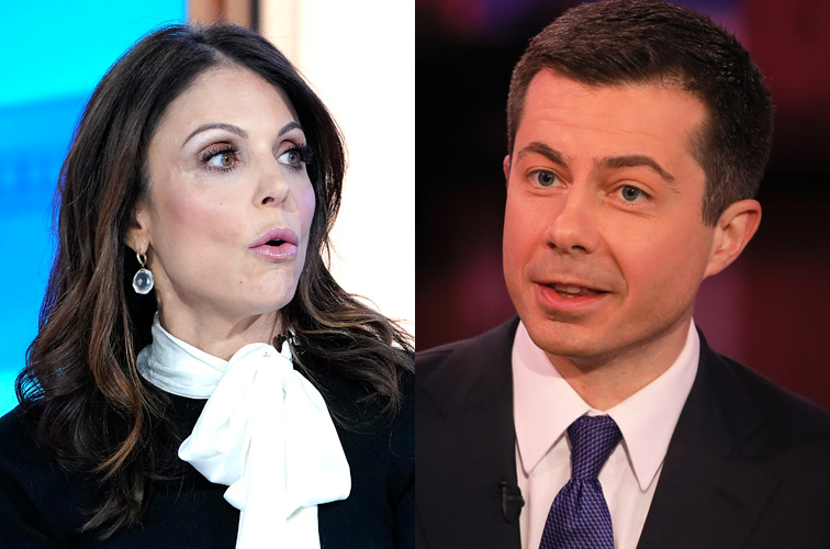 Bethenny Frankel and Pete Buttigieg
