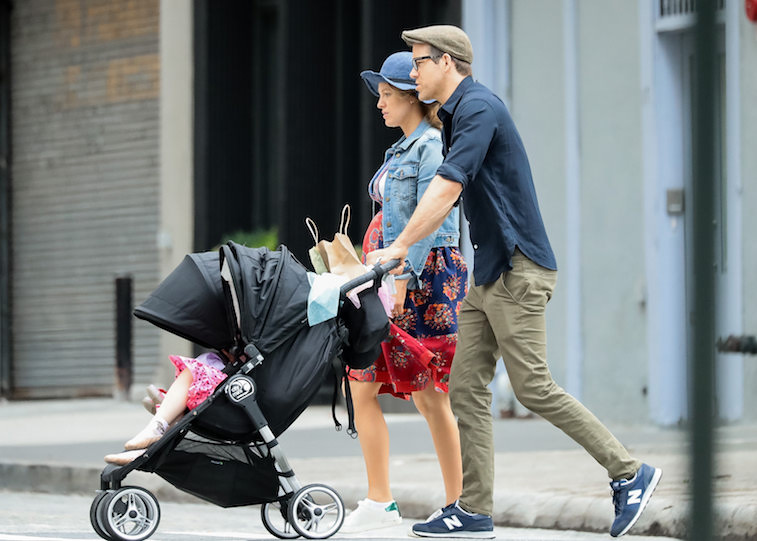 Blake Lively and Ryan Reynolds with their daughter