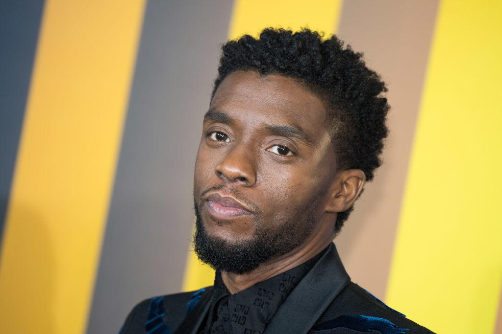 Chadwick Boseman attends the European Premiere of 'Black Panther' on February 8, 2018 in London, England.