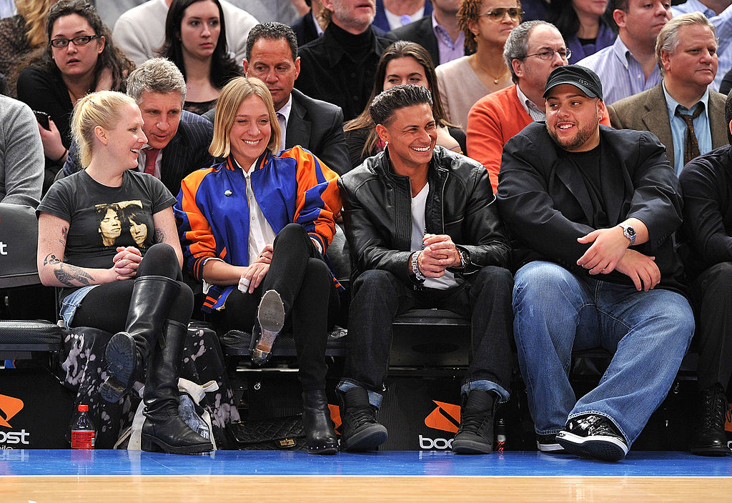 Chloe Sevigny and Pauly D at Knicks game