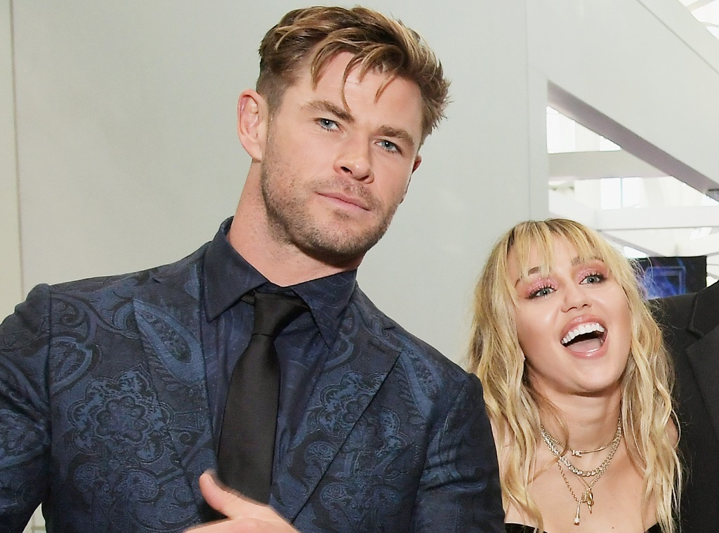 Chris Hemsworth and Miley Cyrus attend the Los Angeles World Premiere of Marvel Studios' 'Avengers: Endgame' on April 23, 2019