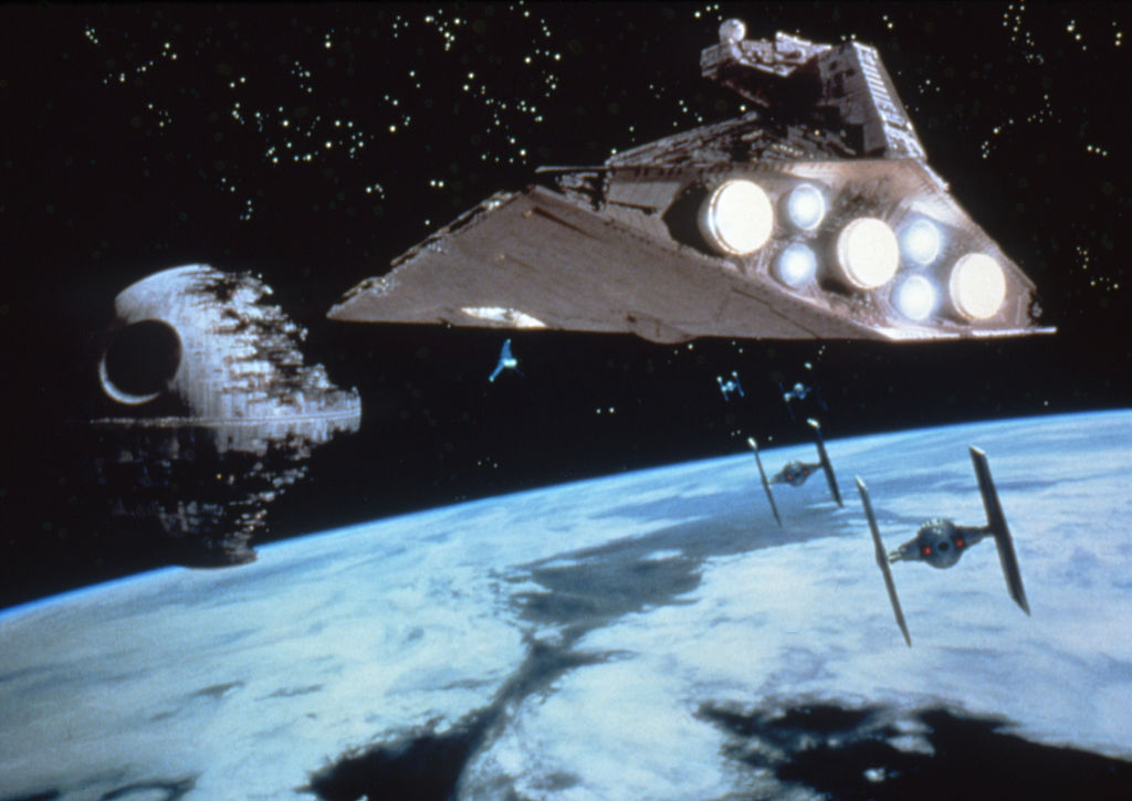 The famous Death Star assault from the climax of Return of the Jedi