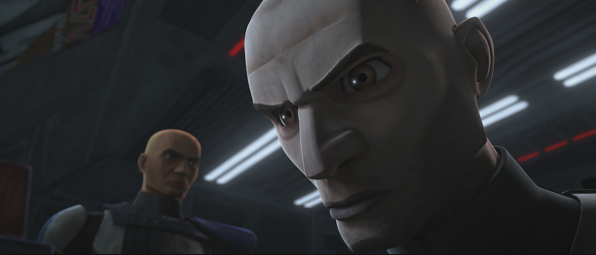 Rex and Echo have a tense moment in 'The Clone Wars' Season 7.