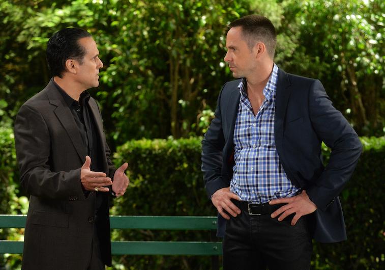 Maurice Benard (Sonny) and William deVry (Julian)