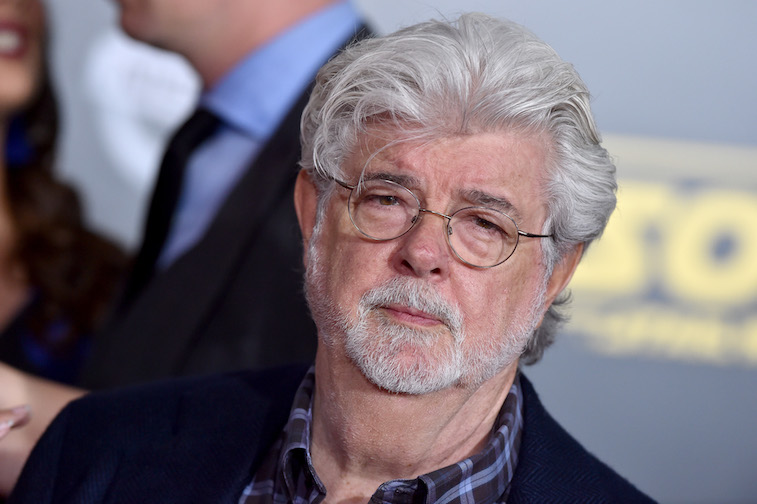 George Lucas on the red carpet