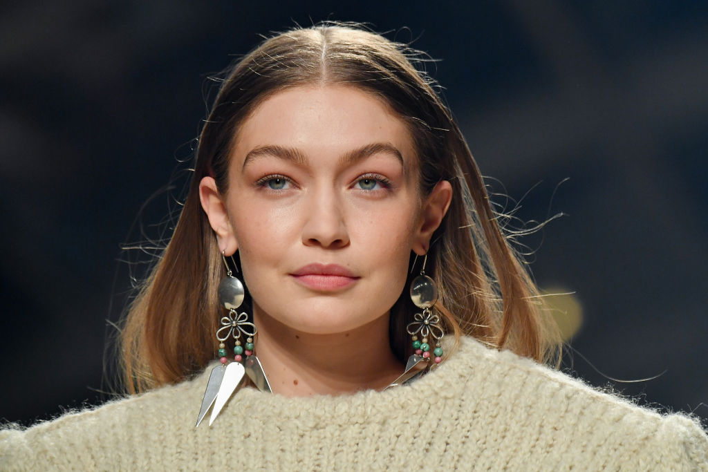Gigi Hadid walks the runway during the Isabel Marant show as part of the Paris Fashion Week Womenswear Fall/Winter 2020/2021