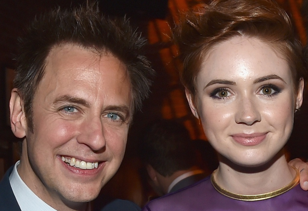 James Gunn and Karen Gillan