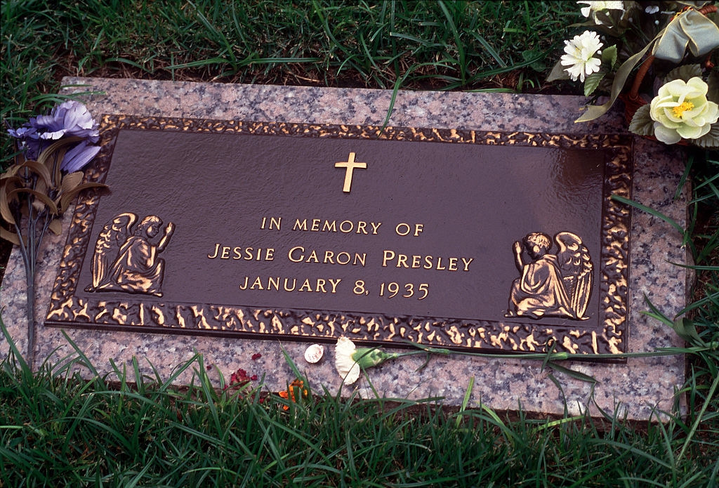 Jessie Garon Presley grave marker