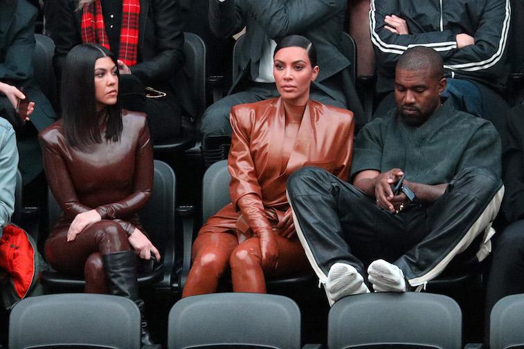 Kim Kardashian West, Kourtney Kardashian, and Kanye West