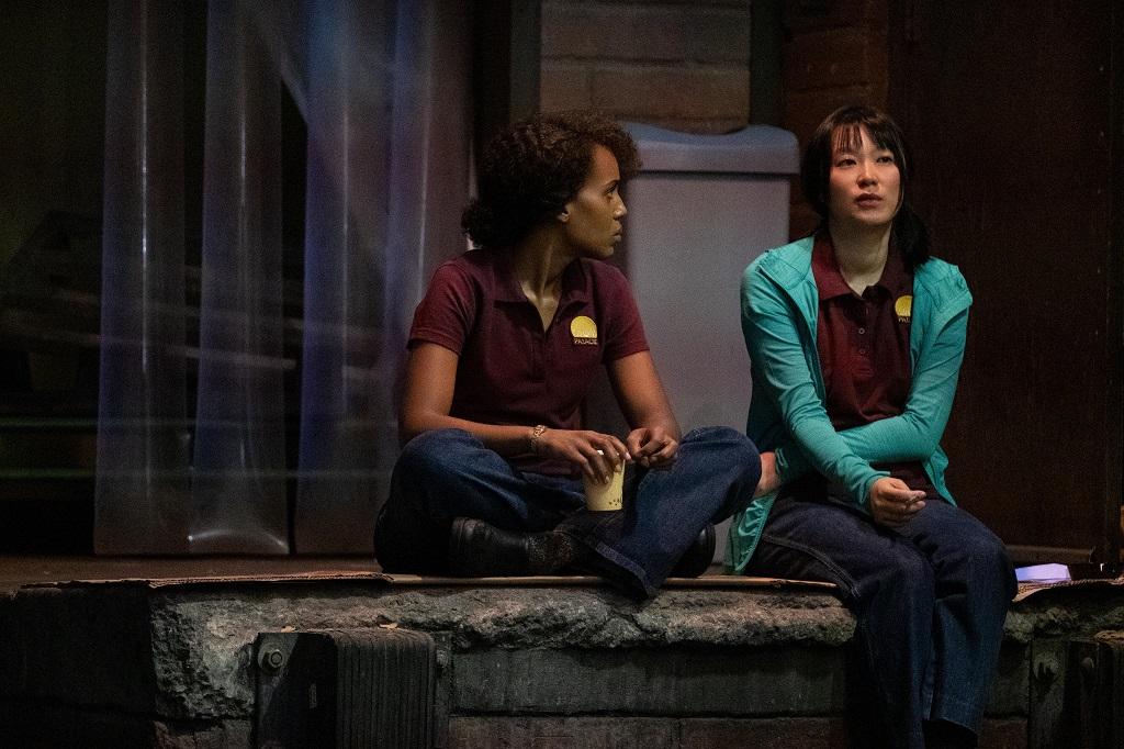 Kerry Washington as Mia Warren and Huang Lu as Bebe Chow in 'Little Fires Everywhere'