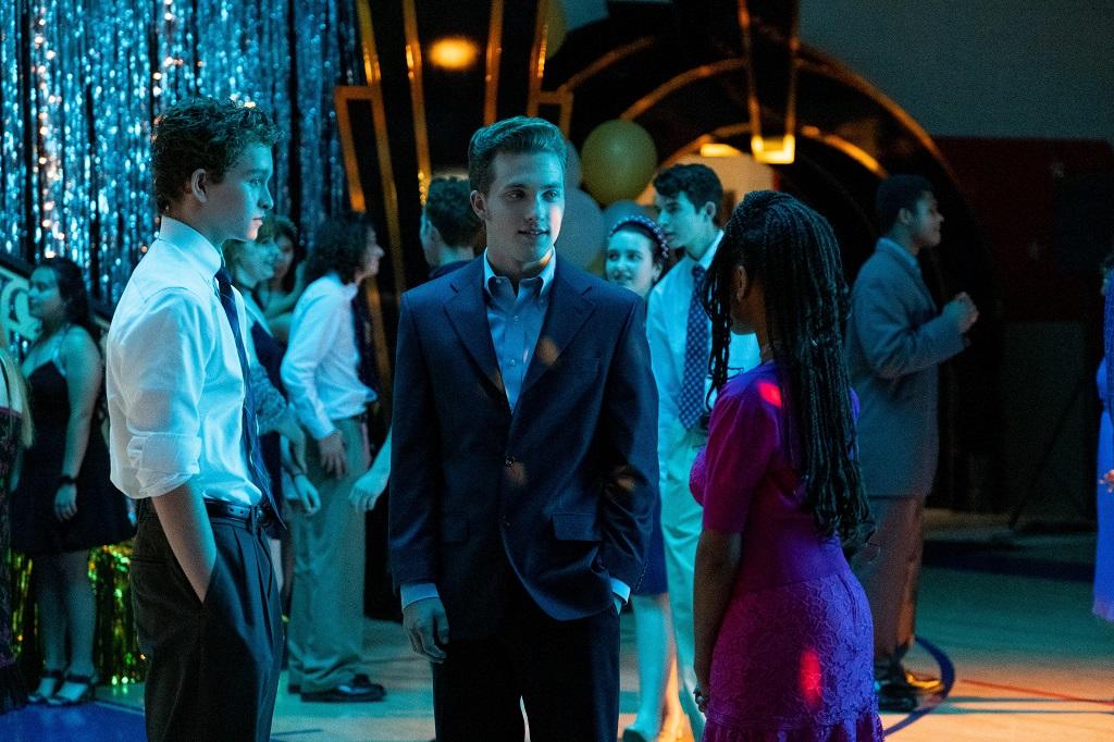 Gavin Lewis as Moody Richardson, Jordan Elsass as Trip Richardson, and Lexi Underwood as Pearl Warren in 'Little Fires Everywhere'