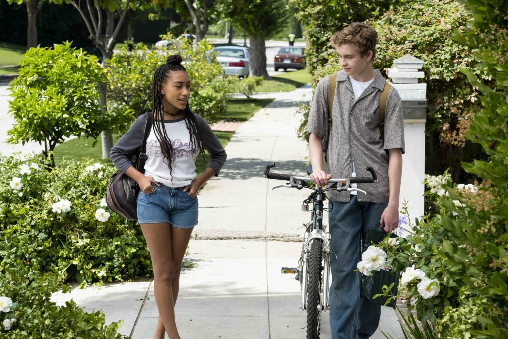 Pearl (Lexi Underwood) and Moody (Gavin Lewis) in 'Little Fires Everywhere'
