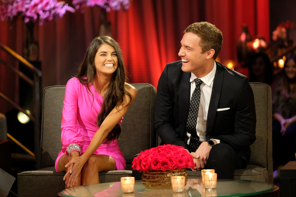 "Madison Prewett and Peter Weber on the live finale of 'The Bachelor,' ""Part 2."""