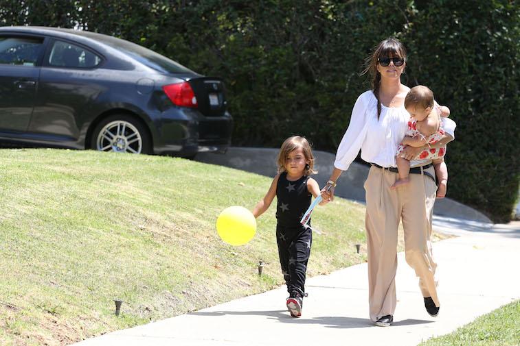 Kourtney Kardashian with Mason Disick and Penelope Disick