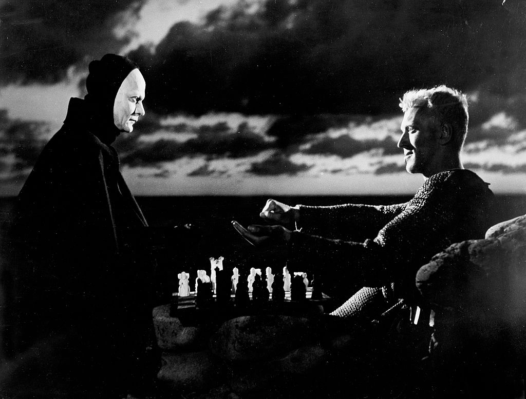 The knight plays chess with death in The Seventh Seal
