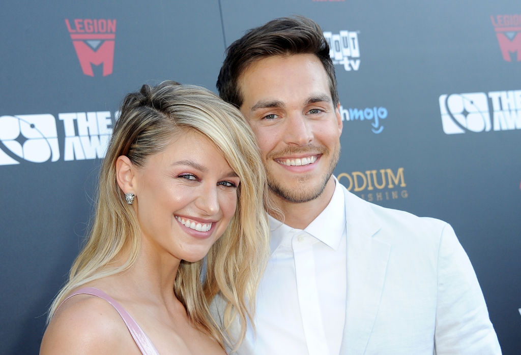 Melissa Benoist and Chris Wood attend the 45th Annual Saturn Awards on September 13, 2019
