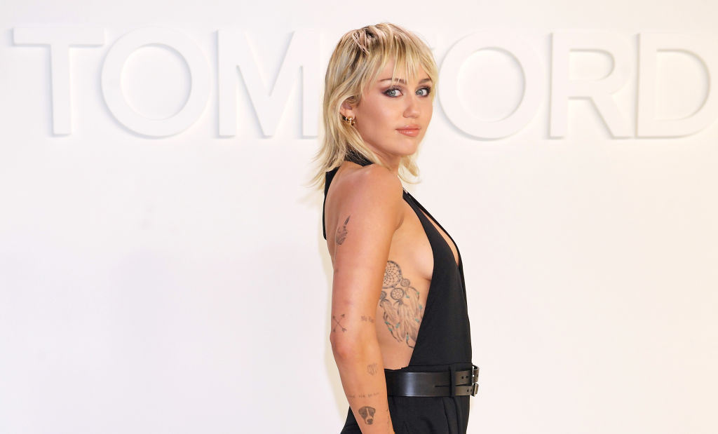 Miley Cyrus attends the Tom Ford AW20 show at Milk Studios on February 7, 2020 in Hollywood, California