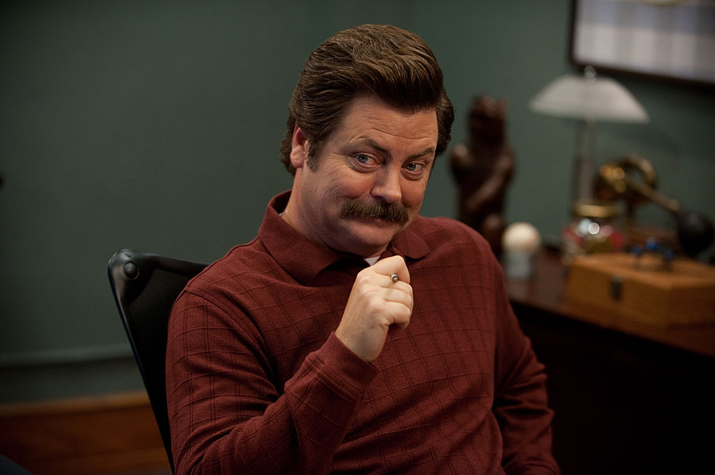 Nick Offerman as Ron Swanson in 'Parks and Recreation'