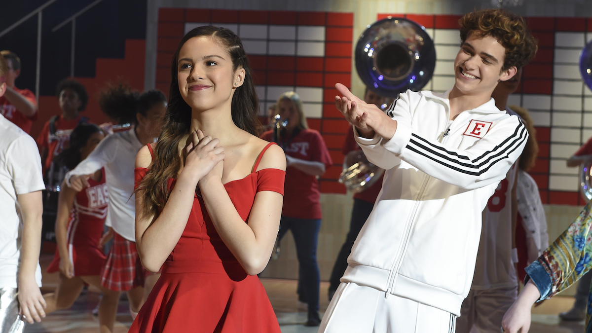Nini (Olivia Rodrigo) and Ricky (Joshua Bassett) in the season finale of 'High School Musical: The Musical: The Series.'