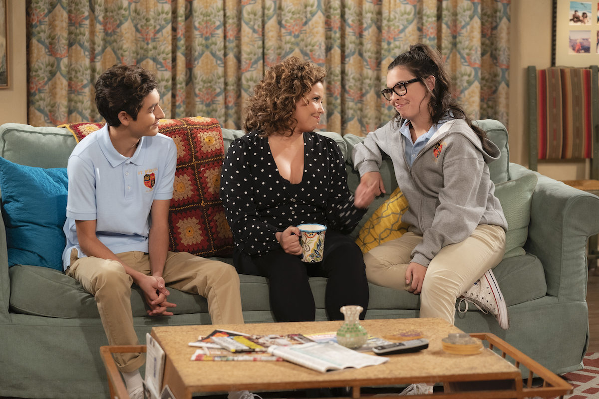 Marcel Ruiz as Alex, Justina Machado as Penelope and Isabella Gomez as Elena in 'ONE DAY AT A TIME' Season 4, Episode 1.