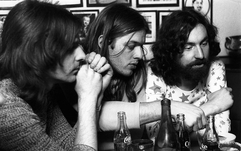 Rick Wright, David Gilmour, and Nick Mason do an interview in 1970.