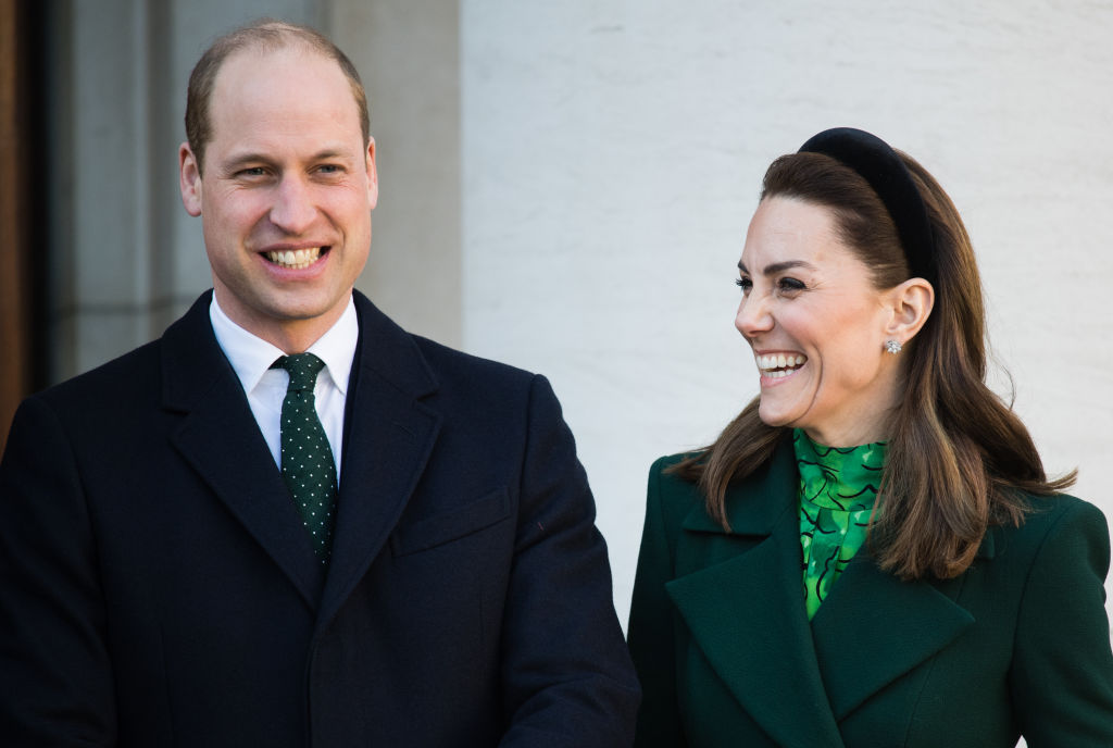 Kate Middleton and Prince William meets Ireland's Taoiseach Leo Varadkar and his partner Matthew Barrett on March 03, 2020 in Dublin, Ireland