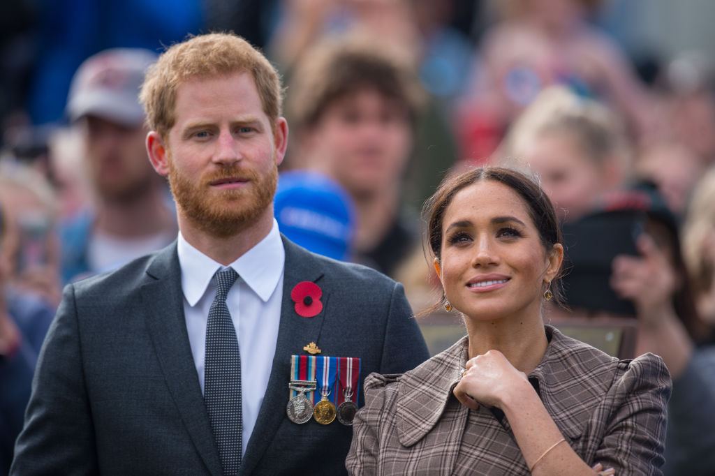 Prince Harry and Meghan Markle visit the newly unveiled UK war memorial and Pukeahu National War Memorial Park