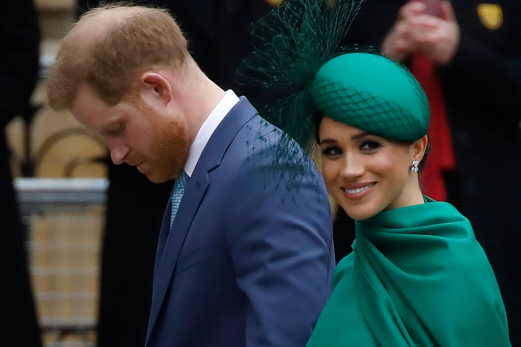 Prince Harry and Meghan, Duchess of Sussex arrive to attend the annual Commonwealth Service at Westminster Abbey