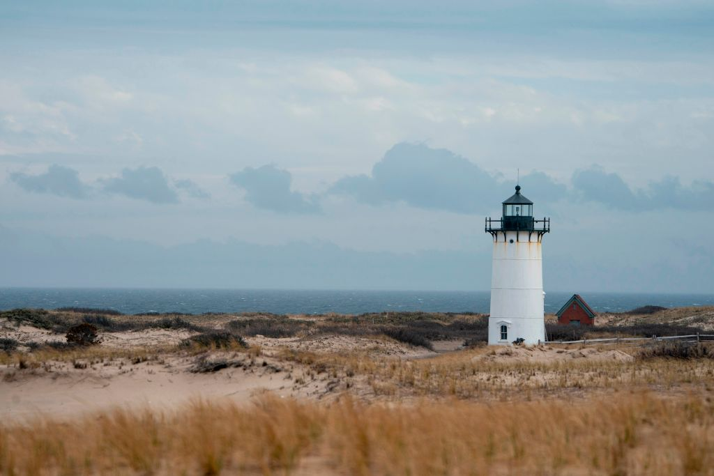 Race Point Lighthouse near Race Point Beach on Cape Cod April 15, 2019 near Provincetown, Massachusetts, the place Season 10 of 'American Horror Story' might film.