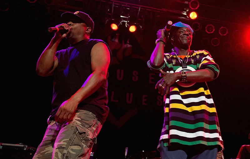 Chuck D and Flavor Flav of Public Enemy performing