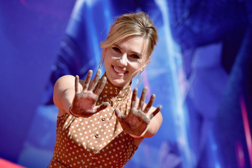 Scarlett Johansson attends Marvel Studios' 'Avengers: Endgame' Cast Handprint Ceremony on April 23, 2019