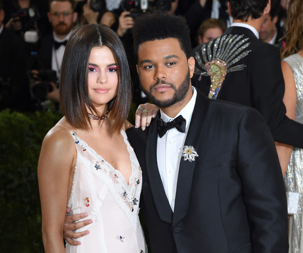 Selena Gomez and The Weeknd attend the Met Gala on May 1, 2017