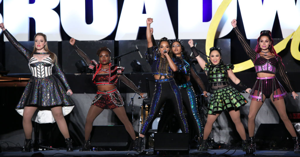 The cast of 'SIX' performing at BroadwayCon 2020, January 24, 2020.