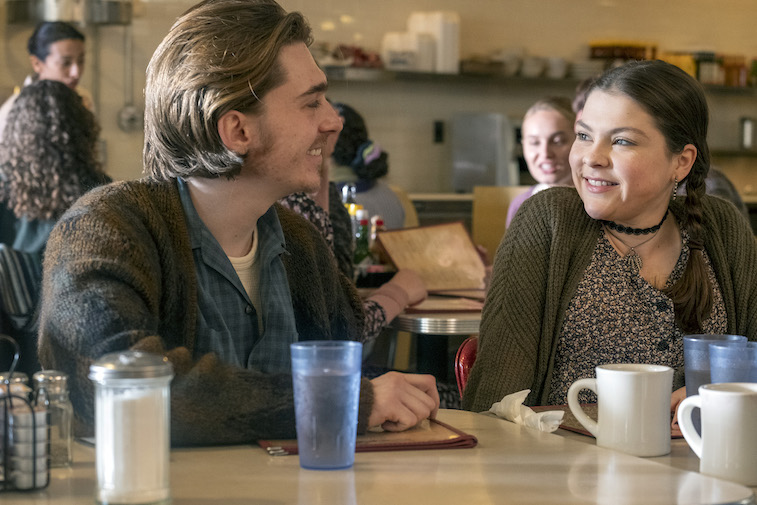 Austin Abrams as Marc, Hannah Zeile as Kate on This Is Us