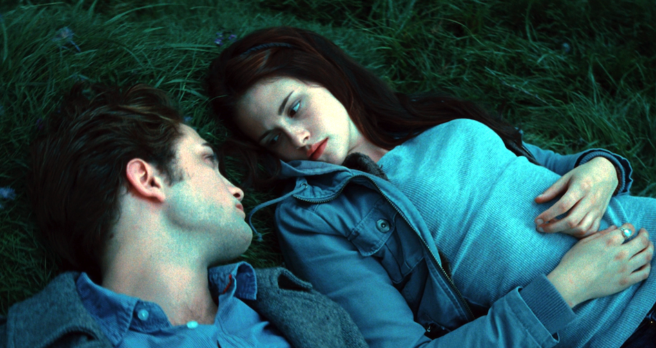 Edward Cullen (Robert Pattinson) and Bella Swan (Kristen Stewart) in 'Twilight.'