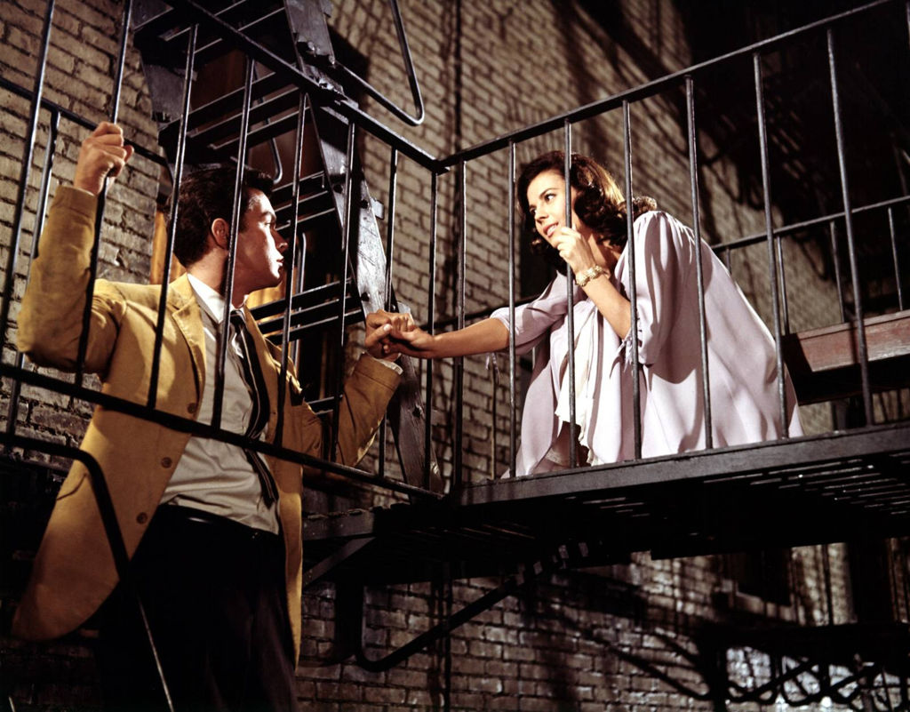 Natalie Wood as Maria and Richard Beymer as Tony in a scene from the movie 'West Side Story.'