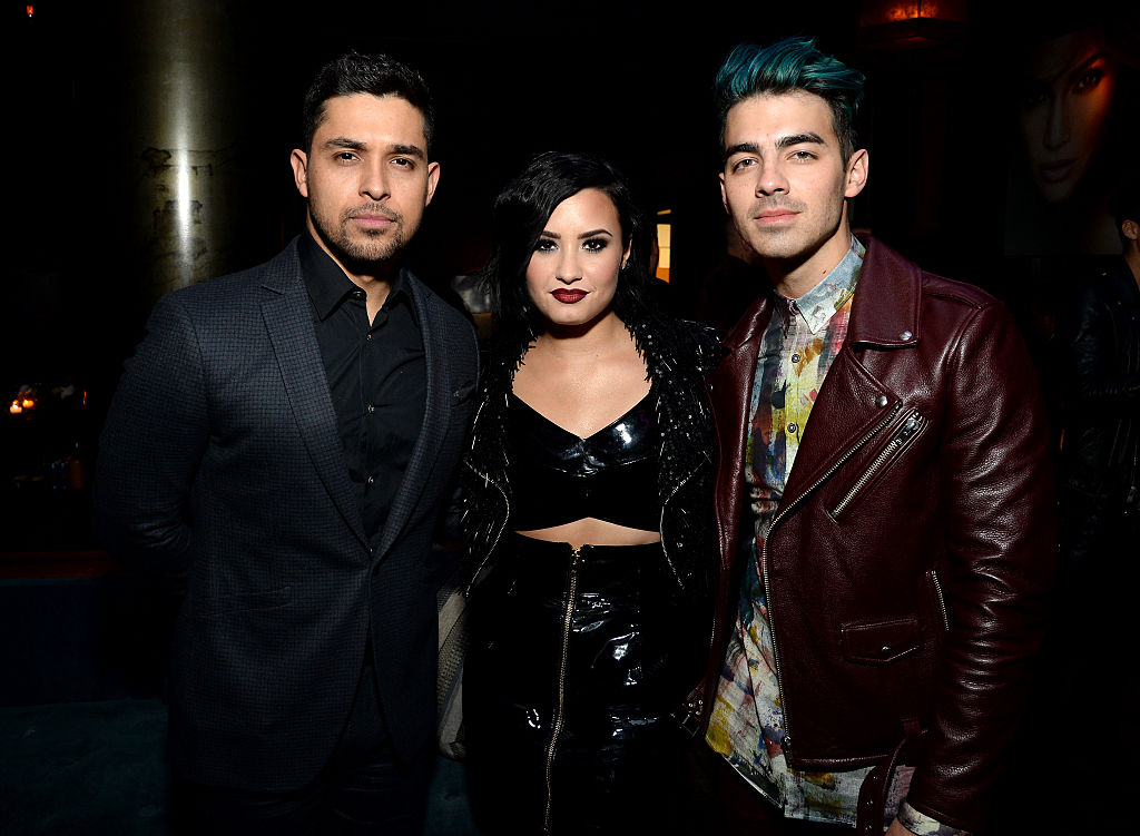 Wilmer Valderrama, Demi Lovato and Joe Jonas