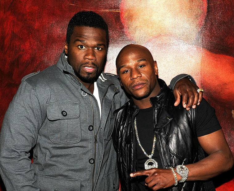 Curtis '50 Cent' Jackson and Floyd Mayweather