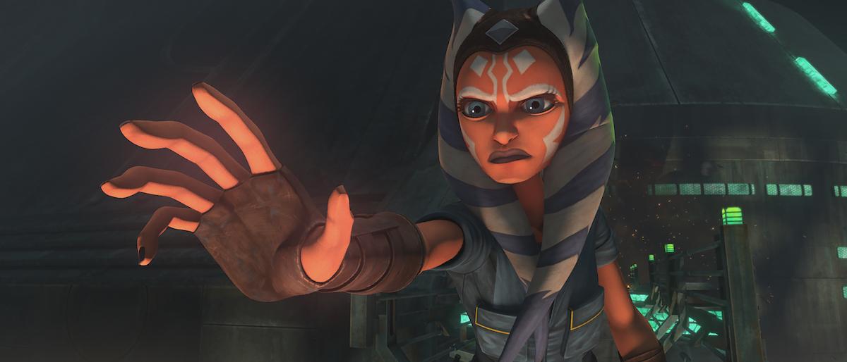 Ahsoka uses the Force in Episode 7, 'The Clone Wars' Season 7.