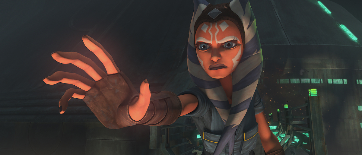 Ahsoka uses the Force in Episode 7, 'The Clone Wars' Season 7.