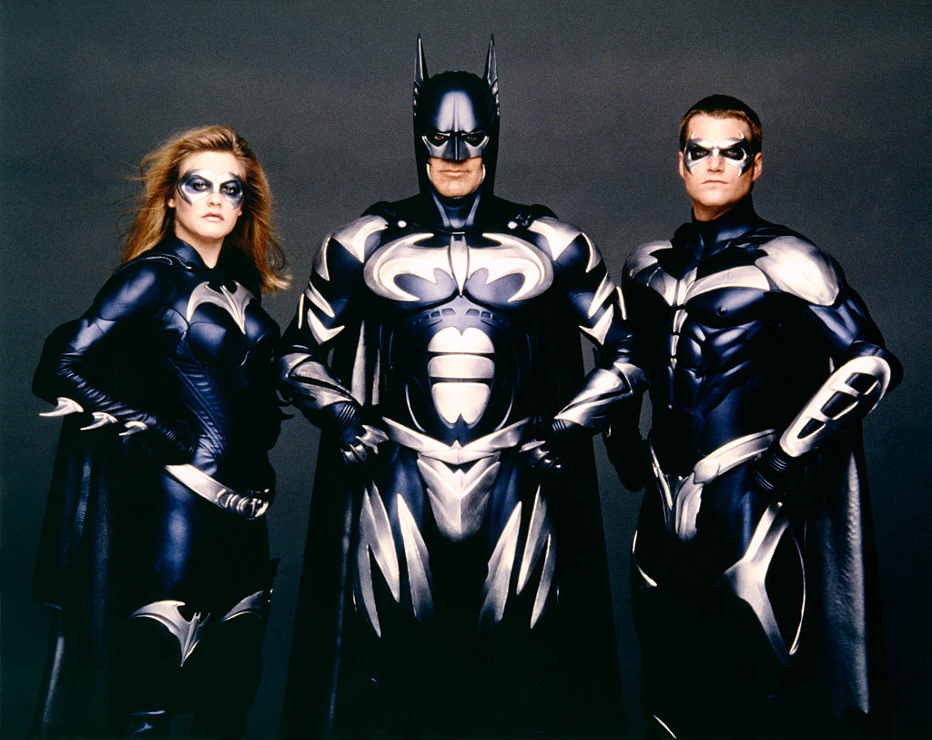 Alicia Silverstone, George Clooney and Chris O'Donnell of 'Batman & Robin'