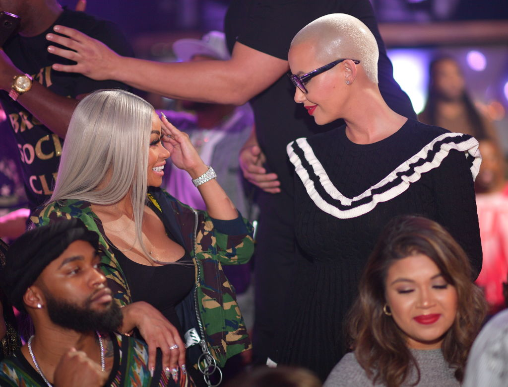Blac Chyna and Amber Rose at a party in 2017