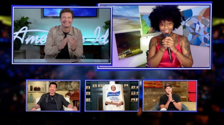 Ryan Seacrest, Lionel Richie, Katy Perry, Just Sam, and Luke Bryan on 'American Idol' zoom style