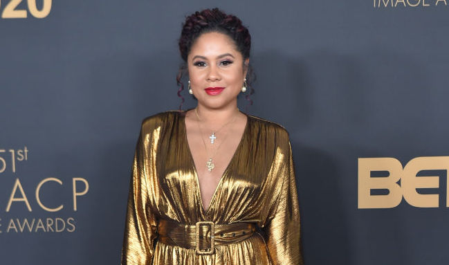 Angela Yee on the red carpet at an award show in February 2020